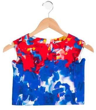 Milly Minis Girls' Printed Sleeveless Top