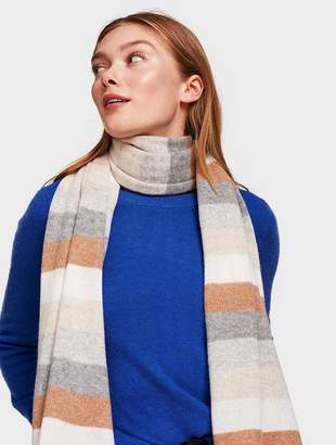 White + Warren Cashmere Striped Wrap Scarf