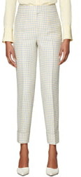 SUISTUDIO Lane Cuffed Check Trousers