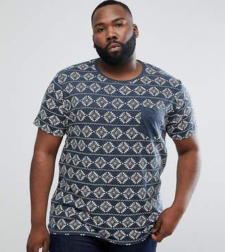 Brave Soul PLUS All Over Geo-Tribal Print T-Shirt