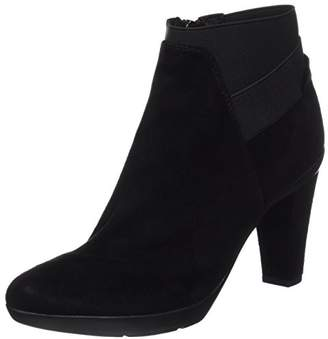 3656c555b56 Geox Women's D Inspiration Stiv B Goat Suede Ankle Boots, Black  (Blackc9999),