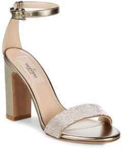 Valentino Metallic Ankle Strap Heels