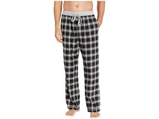 True Grit Crossroads Plaid Flannel Pajama Pants with Heather Knit Trim