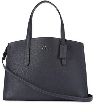 Coach Charlie Navy Leather Tote