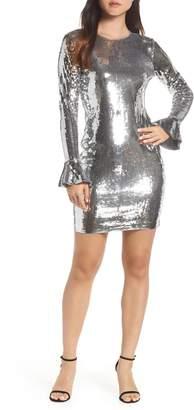 MICHAEL Michael Kors Sequin Ruffle Cuff Dress