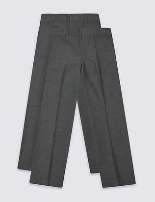 Marks and Spencer 2 Pack Boys' Skinny Leg Trousers