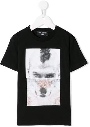 Neil Barrett Kids Man-Wolf print T-shirt