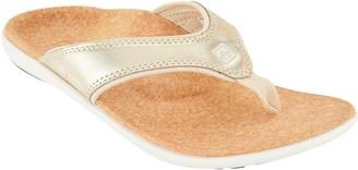 Spenco Orthotic Thong Sandals - Yumi Metallic
