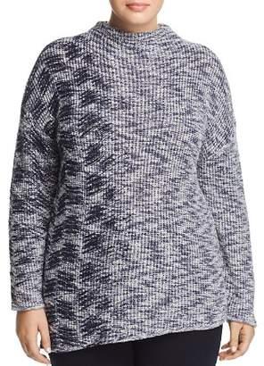 Nic+Zoe Plus Asymmetric Marled Sweater