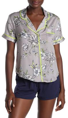 Room Service Button Front Pajama Top