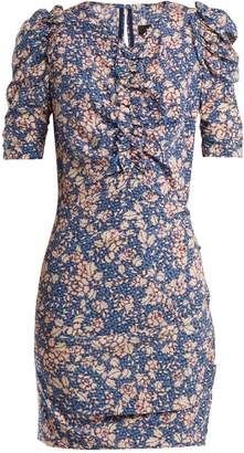 Isabel Marant Brizia floral-print puff-sleeved dress