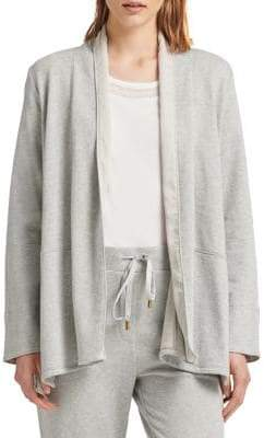 Donna Karan Open Front French Terry Jacket