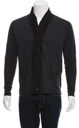 CNC Costume National Shawl Collar Cardigan Sweater