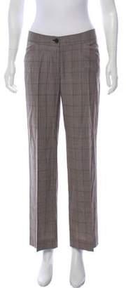 Dolce & Gabbana Mid-Rise Wool Pants Beige Mid-Rise Wool Pants