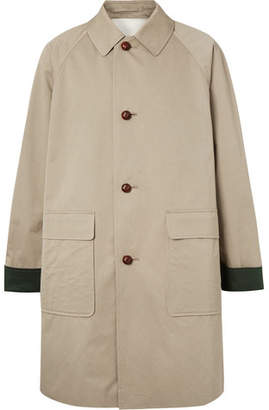 Burberry Oversized Cotton-Gabardine Coat - Men - Gray green