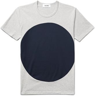 Aloye Circle Colour-Block Cotton-Jersey T-Shirt