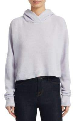 Theory Cropped Cashmere Hoodie