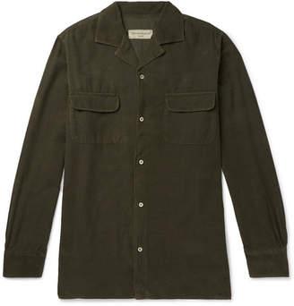 Officine Generale Dario Garment-Dyed Cotton-Corduroy Shirt