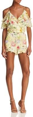 Parker Ringly Cold-Shoulder Floral Silk Romper - 100% Exclusive
