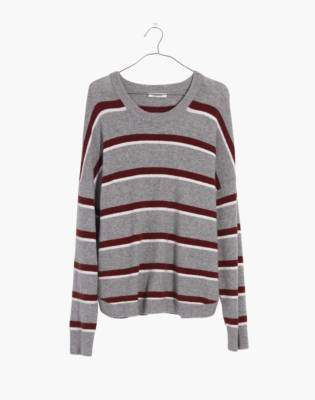 Madewell Westlake Striped Pullover Sweater in Coziest Yarn