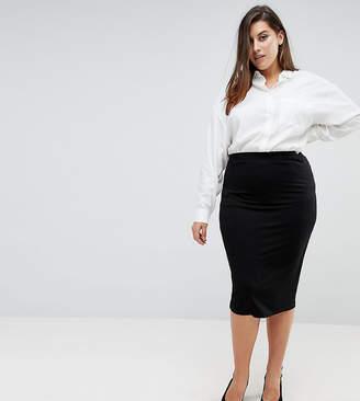 Asos DESIGN Curve jersey pencil skirt