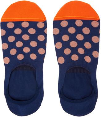 Paul Smith Navy Spot Loafers Socks $20 thestylecure.com