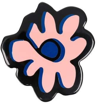 Marni painted flower brooch