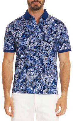 Robert Graham Mauri Paisley-Print Polo Shirt