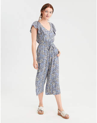 American Eagle AE Flutter Sleeve Culotte Jumpsuit