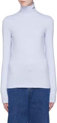 Calvin Klein Logo embroidered turtleneck long sleeve T-shirt