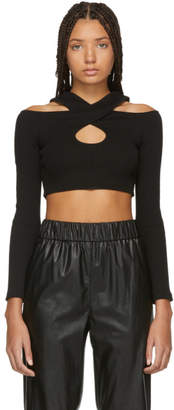 Opening Ceremony Black Rib Criss Cross Sweater