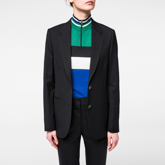 A Suit To Travel In - Women's Black Two-Button Wool Blazer $925 thestylecure.com