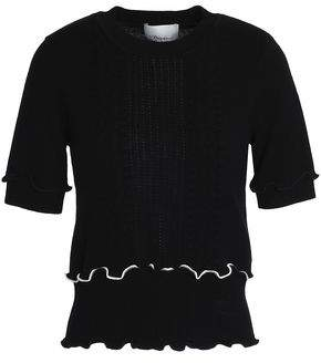 3.1 Phillip Lim Ruffle-trimmed Pointelle-knit Wool-blend Sweater 64efdaf37