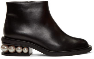 Nicholas Kirkwood Black Casati Pearl Ankle Boots