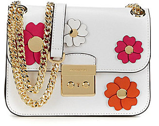 MICHAEL Michael Kors Sloan Floral-Appliqued Chain-Strap Cross-Body Bag $298 thestylecure.com