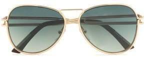 Roland Mouret Aviator-Style Gold-Tone Sunglasses