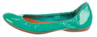Hermes Patent Leather Ballet Flats