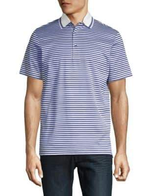 Saks Fifth Avenue COLLECTION Med Stripe Polo