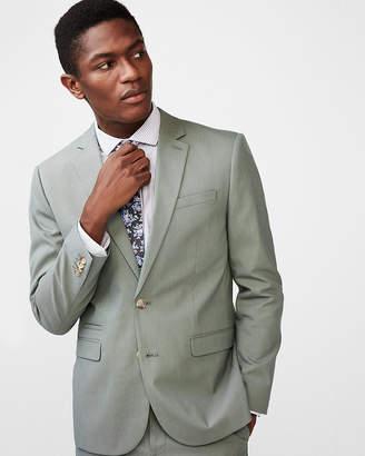 Express Slim Olive Cotton Blend Suit Jacket
