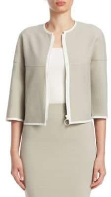 Akris Punto Reversible Contrast-Trim Jacket