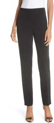Milly High Waist Stretch Crepe Slim Pants