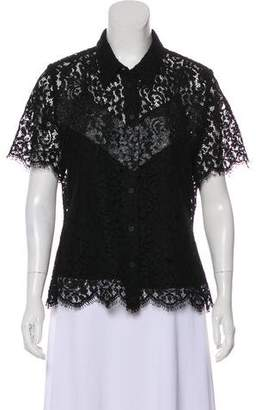 Louis Vuitton Lace Layered Top