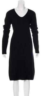 The Row Long Sleeve Sweater Dress Navy Long Sleeve Sweater Dress