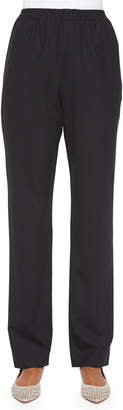 eskandar Mid-Rise Narrow-Leg Trousers, Black