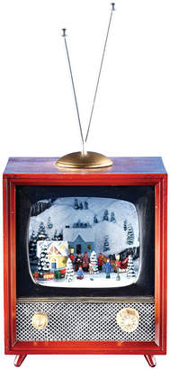 JCPenney Roman Musical Retro TV Figurine with Rotating Train