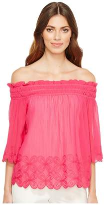 Trina Turk Lime Top Women's Clothing