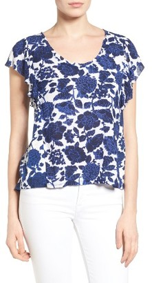 Women's Lucky Brand Floral Print Flutter Top $59.50 thestylecure.com