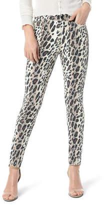 Joe's Jeans The Charlie Ankle Skinny Leopard-Print Jeans