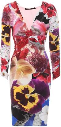 Roberto Cavalli Floral-printed jersey dress