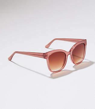 LOFT Iridescent Square Sunglasses